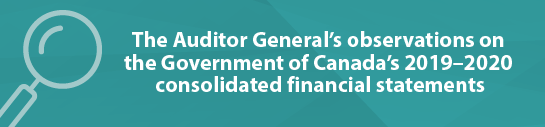 The Auditor General's observations on the government of Canada's 2019–2020 consolidated financial statements
