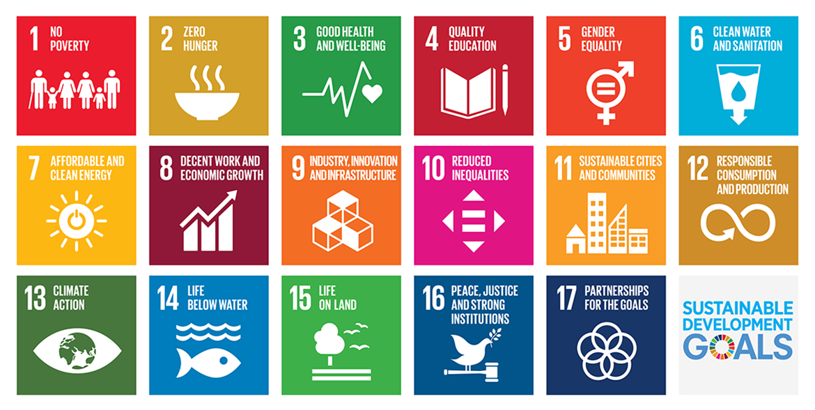 Image illustrating the 17 sustainable development goals of the United Nations