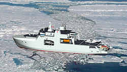 Illustration supplied by National Defence of the arctic offshore patrol ship