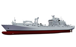 Illustration supplied by National Defence of the joint support ship
