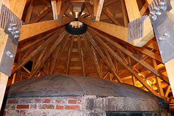 Interior photo of the new roof of the Prince of Wales Tower in Halifax, Nova Scotia