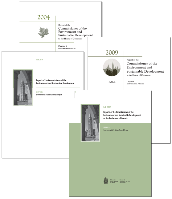 Collage of previous report covers