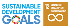 Logo of the United Nations' sustainable development goals and icon of United Nations' Sustainable Development Goal 12: Responsible Consumption and Production