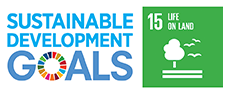 Logo of the United Nations' sustainable development goals and icon of United Nations' Sustainable Development Goal 15: Life on Land
